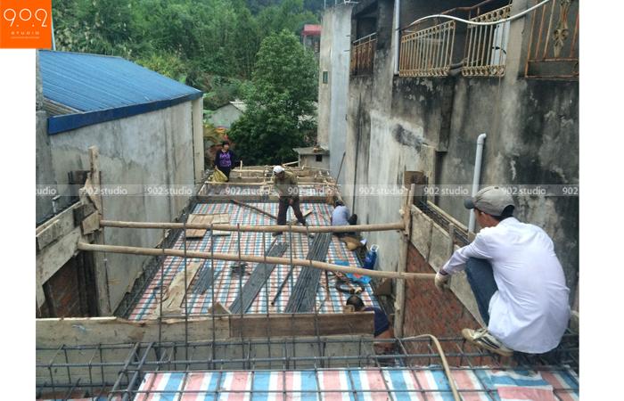 Thi công nhà lô nhà bác Hải (Yên Bái) - NP14