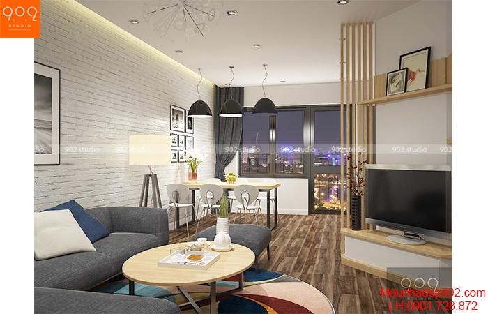 Thiết kế nội thất chung cư - Phòng khách 1 - NT05