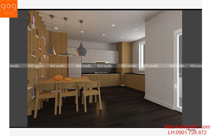 Thiết kế nội thất chung cư - Phòng bếp - NT10