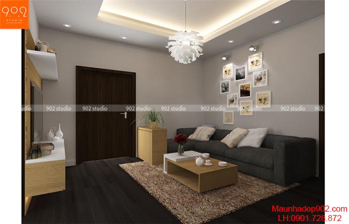 Thiết kế nội thất chung cư -Phòng khách 1 - NT10