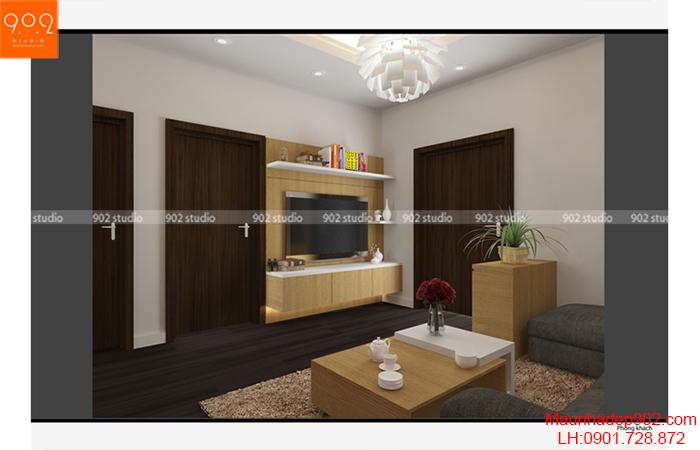Thiết kế nội thất chung cư - Phòng khách - NT10