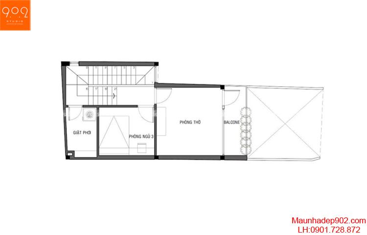 Thiết kế nhà phố - Mặt bằng tầng 1 - NP17