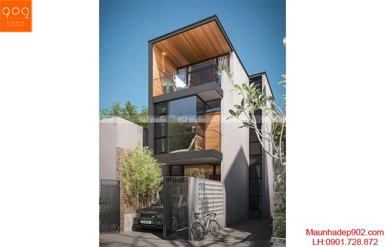 Thiết kế nhà lô phố - Phối cảnh- NP18