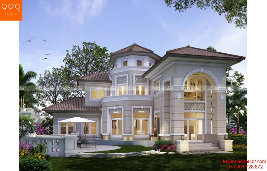 Thiết kế biệt thự phong cách châu Âu - Phối cảnh - BT54