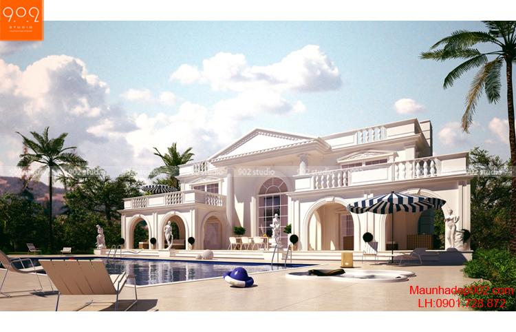 Thiết kế biệt thự 2 tầng - Phối cảnh 2 - BT69