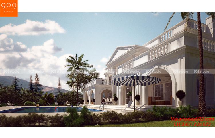 Thiết kế biệt thự 2 tầng - Phối cảnh 3 - BT69