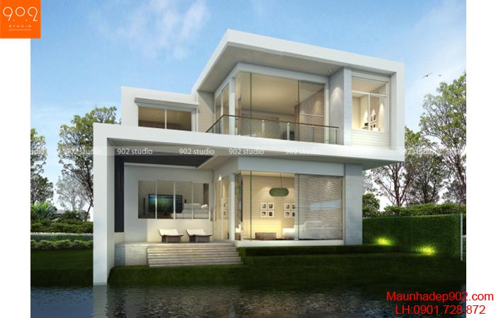 Thiết kế biệt thự 2 tầng - Phối cảnh - BT08