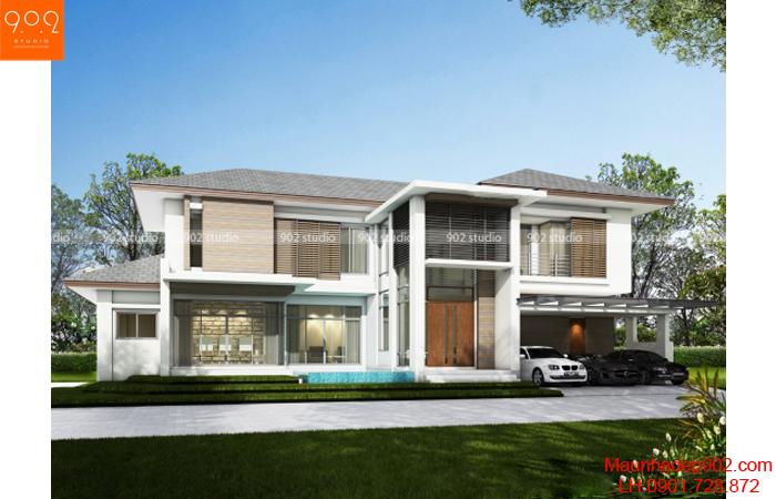 Thiết kế biệt thự 2 tầng - Phối cảnh - BT23