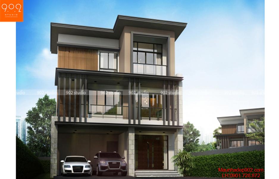 Thiết kế nhà đẹp - Phối cảnh - BT56