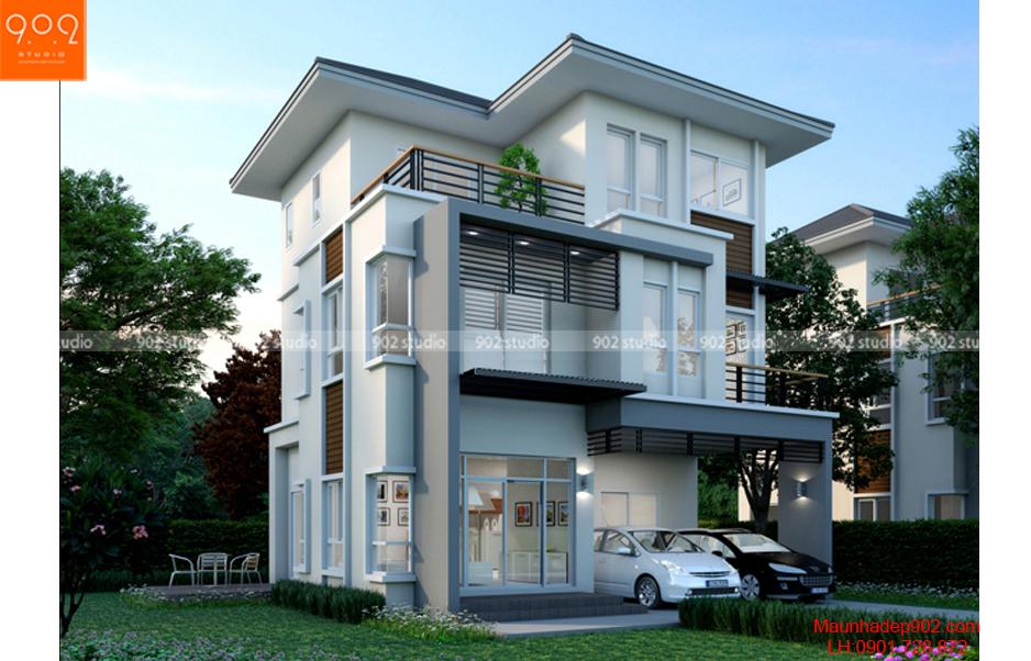 Thiết kế nhà hiện đại - Phối cảnh - BT60