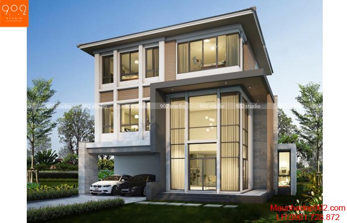 Thiết kế biệt thự 3 tầng - Phối cảnh - BT20