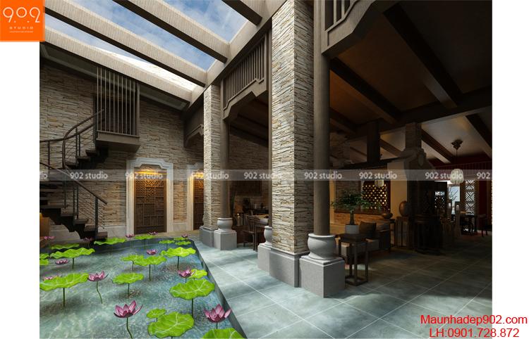Thiết kế biệt thự - Hồ sen 1 - BT80