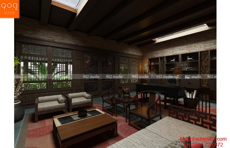 Thiết kế biệt thự - Phòng làm việc chính 3 - BT80