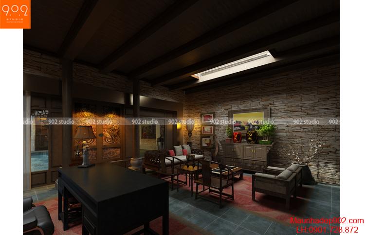 Thiết kế biệt thự - Phòng làm việc chính 5 - BT80