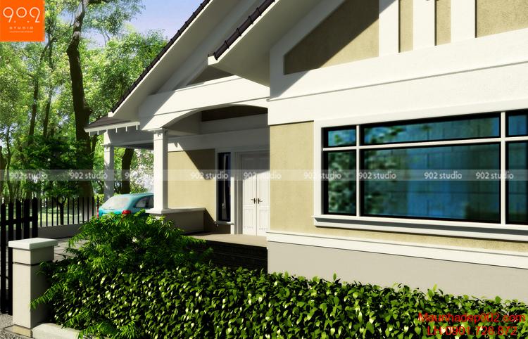 Thiết kế biệt thự vườn - Phối cảnh 5 - BT76