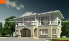 Thiết kế kiến trúc biệt thự 2 tầng -Phối cảnh 1- BT83