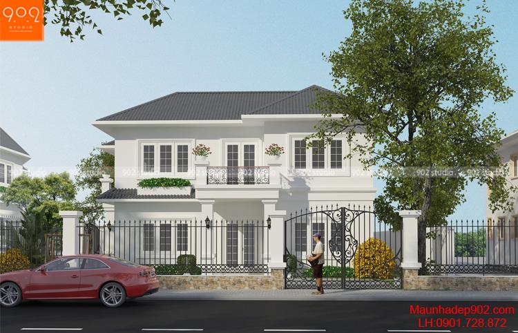 Thiết kế biệt thự 2 tầng - Phối cảnh 2 - BT115
