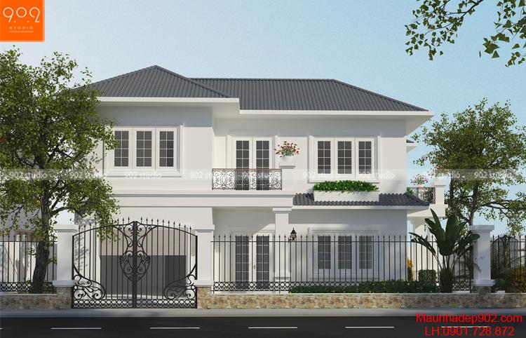 Thiết kế biệt thự 2 tầng - Phối cảnh 3 - BT115