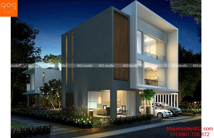 Bản thiết kế biệt thự 3 tầng - BT27