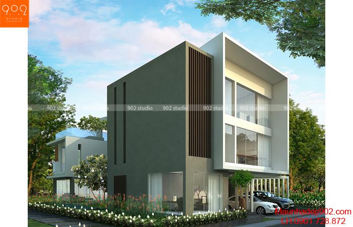 Bản thiết kế biệt thự 3 tầng - Phối cảnh 1 - BT27