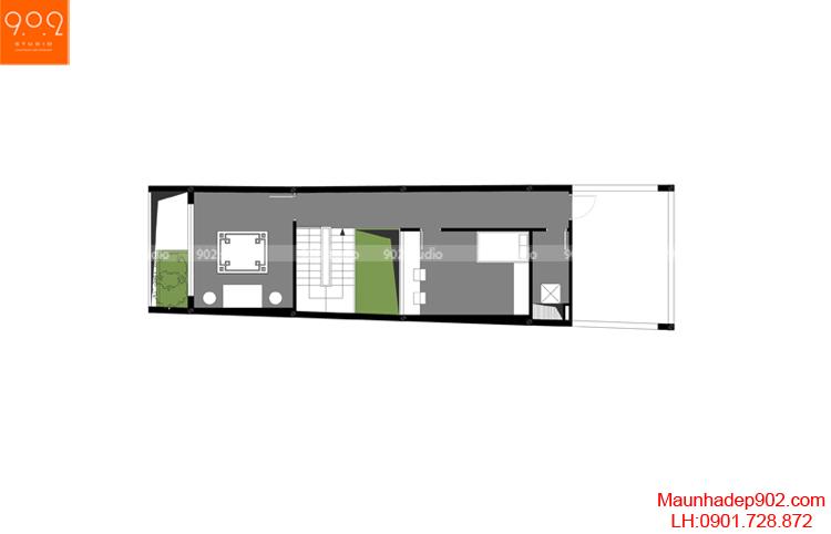 Thiết kế nhà phố - Mặt bằng tầng 3 - NP11