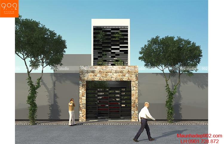 Thiết kế nhà phố - Phối cảnh 2 - NP11