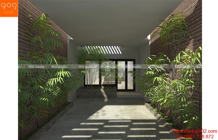 Thiết kế nhà phố - tiểu cảnh 2 - NP11