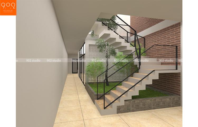 Mẫu nhà phố đẹp   - cầu thang - NP11