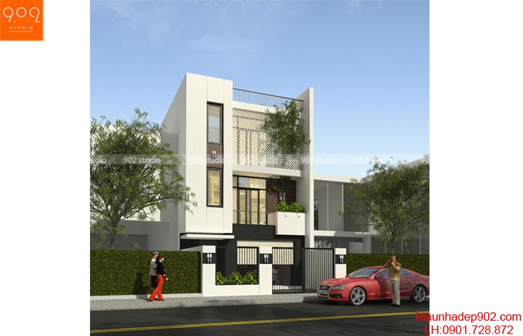 Thiết kế kiến trúc nhà lô - Phối cảnh - NP08