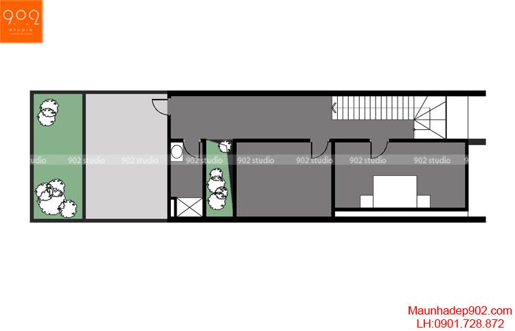 Thiết kế nhà phố - Mặt bằng tầng 3 - NP13