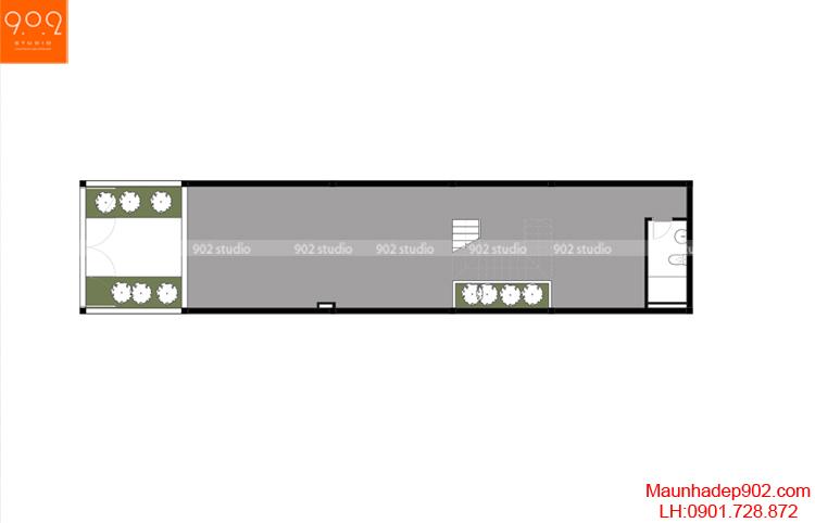 Thiết kế nhà phố - Mặt bằng tầng 1 - NP01