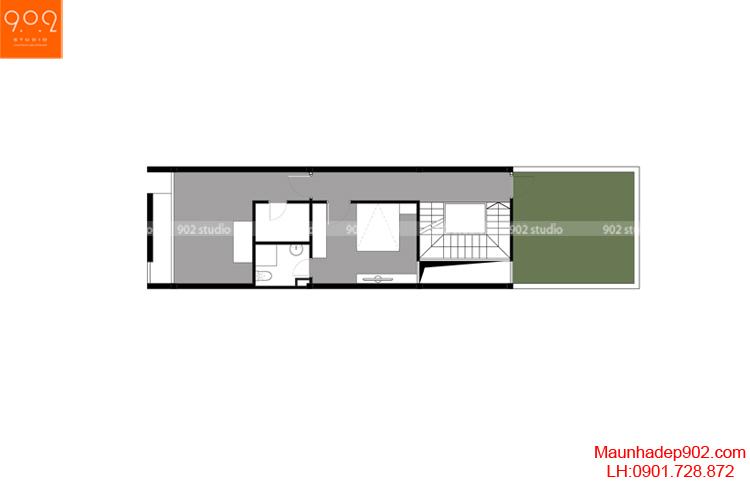 Thiết kế nhà phố - Mặt bằng tầng 4 - NP01