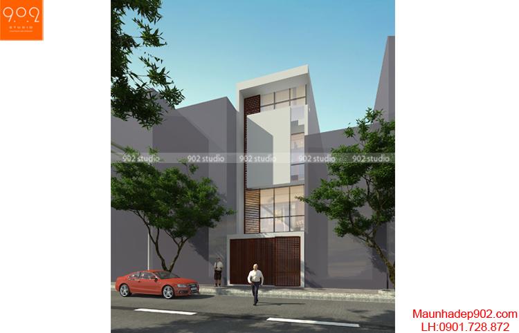 Thiết kế nhà phố - Phối cảnh 2 - NP01
