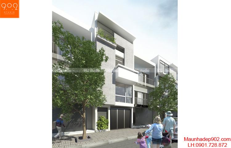 Thiết kế nhà phố - Phối cảnh 2 - NP02