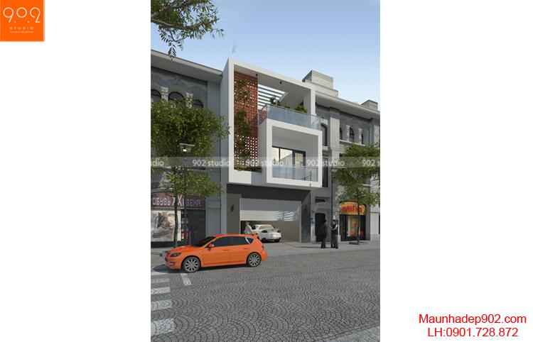 Thiết kế nhà phố - Phối cảnh 2 - NP10
