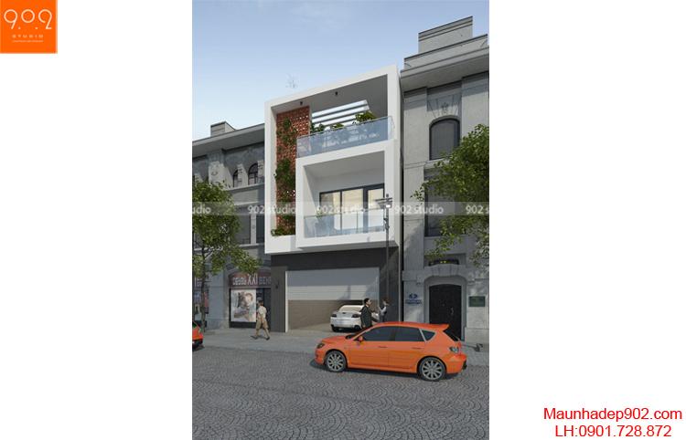 Thiết kế nhà phố hiện đại - NP10