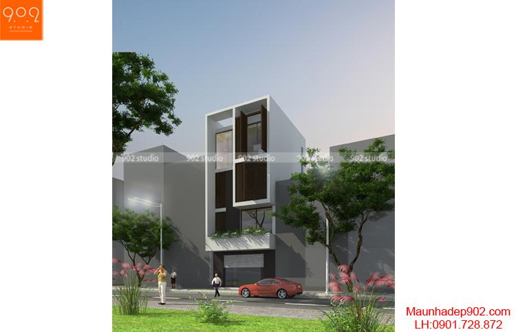 Thiết kế nhà phố - Phối cảnh 1 - NP09