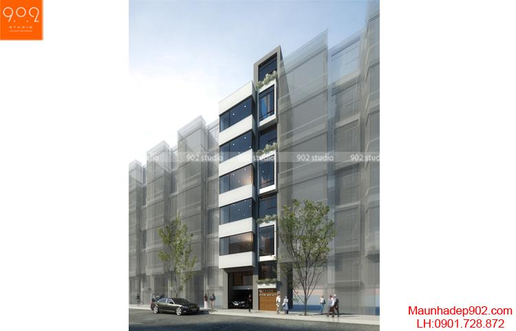 Thiết kế nhà phố - Phối cảnh 1 - NP12