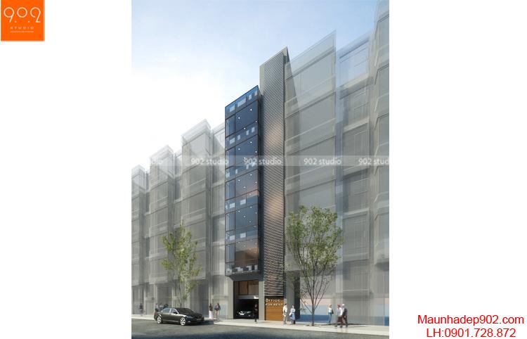 Thiết kế nhà phố - Phối cảnh 2 - NP12