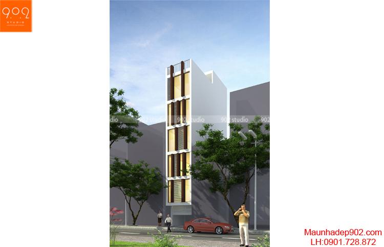 Thiết kế nhà phố - Phối cảnh - NP19