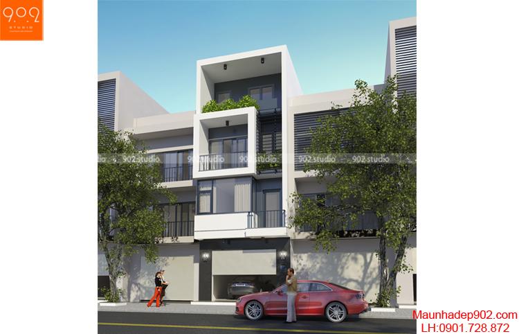 Thiết kế nhà phố - Phối cảnh 2 - NP03