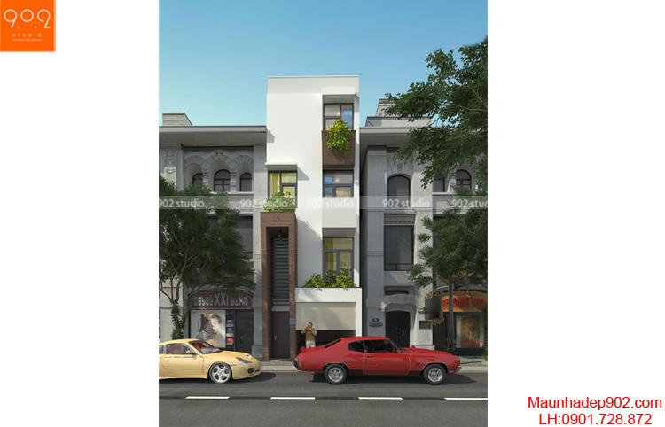 Thiết kế nhà phố - Phối cảnh 2 - NP04