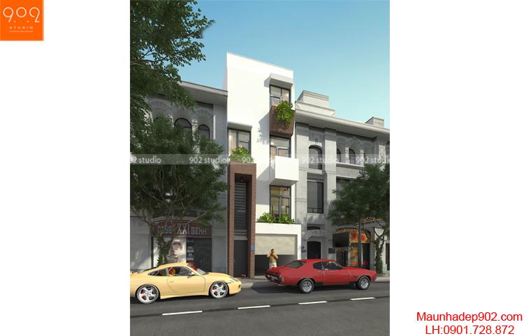 Thiết kế nhà phố - Phối cảnh 1 - NP04