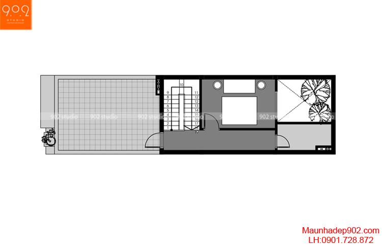 Thiết kế nhà phố - Mặt bằng tăng 4 - NP05