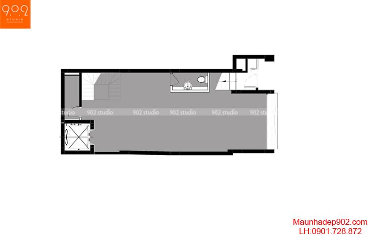 Thiết kế nhà phố - Mặt bằng tầng 1 - NP06