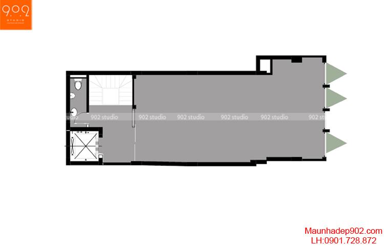 Thiết kế nhà phố - Mặt bằng tầng 3 - NP06