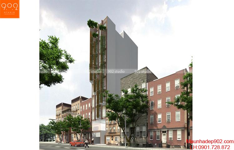 Thiết kế nhà phố - Phối cánh 2 - NP06