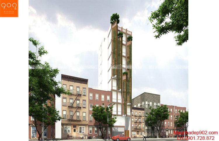 Thiết kế nhà phố - Phối cánh 1 - NP06