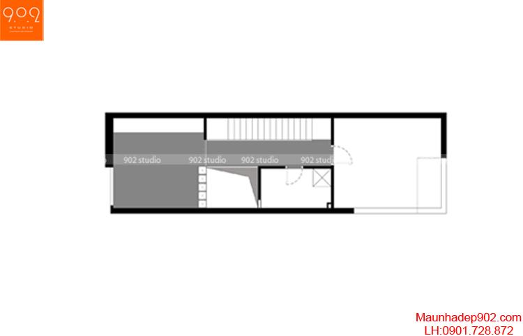 Thiết kế nhà phố - Mặt bằng tầng 4 - NP07