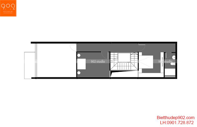 Thiết kế nhà phố - Mặt bằng tầng 4 - NP16